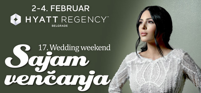 WEDDING WEEKEND OD 2. DO 4. FEBRUARA 2018. U HYATT-U!