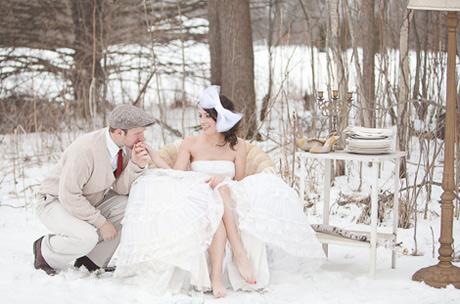 Venčanje na snegu